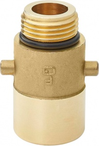 ProPlus LPG nippel Bajonet 22 mm messing goud in blister