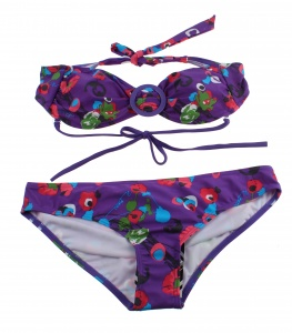Protest bandeaubikini Plum dames paars