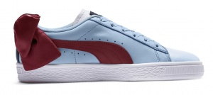 Puma sneakers Basket Bow dames lichtblauw