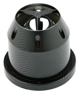 Race Sport luchtfilter 16 x 15 cm Ø 85 mm carbon-look zwart