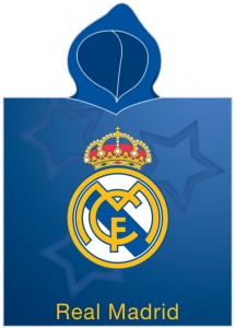 Real Madrid badponcho Logo junior blauw