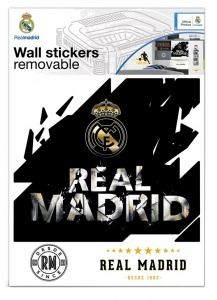 Real Madrid muursticker logo premium 8 stickers