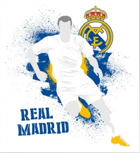 Real Madrid muursticker logo urban 2 stickervellen