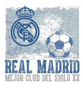Real Madrid muursticker logo vintage 2 stickervellen