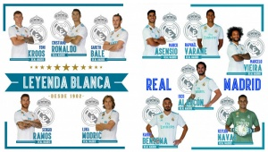 Real Madrid muurstickers 11 spelers 2 stickervellen