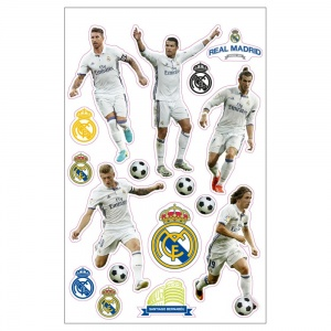 Real Madrid stickers spelers 17 stuks