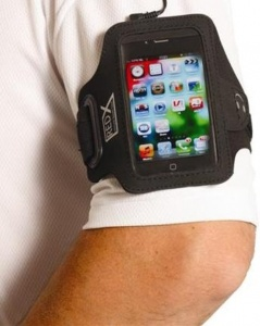 Red-X Iphone 4 Armband Zwart/Grijs