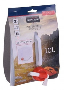 Redcliffs watertank vouwbaar 21 cm ABS wit 10 liter
