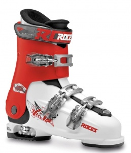 Roces skischoenen Idea Free junior wit/rood/zwart