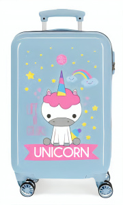 Roll Road kinderkoffer Unicorn 32 liter ABS 55 cm blauw/roze