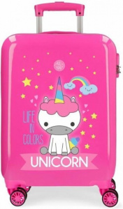 Roll Road kinderkoffer Unicorn 34 liter ABS 55 cm roze