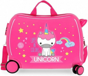Roll Road ride-on-koffer Unicorn 34 liter ABS 50 cm roze
