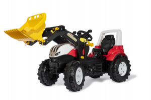 Rolly Toys traptractor  met lader Steyr rood/zwart 146 x 52,5 x 77