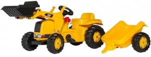 Rolly Toys traptractor RollyKid Cat junior geel