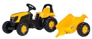 Rolly Toys traptractor RollyKid JCB junior geel