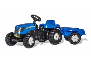 Rolly Toys traptractor RollyKid New Holland T7040 junior blauw
