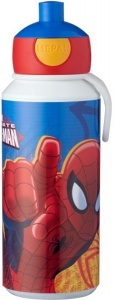 Rosti Mepal pop-up beker Ultimate Spider-Man 400 ml blauw/rood