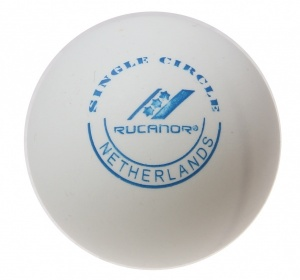 Rucanor tafeltennisballen Single Circle wit 100 stuks