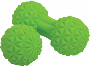 Schildkröt Fitness massage duo set 12 cm groen 2-delig