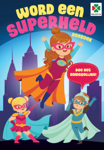 Selecta hobbyboek Word een superheld junior 30 x 21 cm papier
