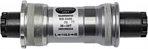 Shimano bottom bracket 105 BB-5500 Italiaans 70-109,5 mm zilver