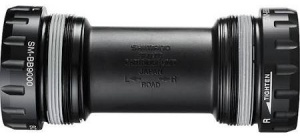Shimano bottom bracket Dura Ace Italiaans 68 x 39 mm zwart