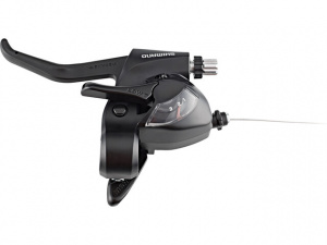 Shimano rem-schakelversteller Tourney EF41 links 3SP alu zwart