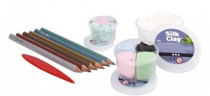Silk Clay Diy Kit themaset Unicorn Pencils 10-delig