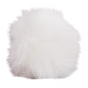 Simoni Racing pookknophoes Fluffy Fur universeel wit