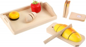 Small Foot Houten snij-set brood met plank 8-delig