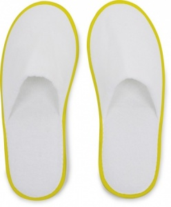 Small Foot Huis- Of Hotelslippers Wit / Geel One Size