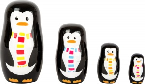 Small Foot matroesjka pinguin
