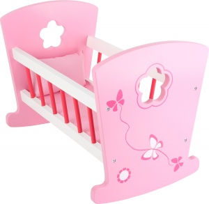 Small Foot poppen schommelbed hout roze 46 x 28 x 34 cm