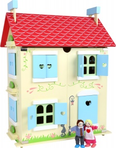Small Foot poppenhuis rood hout 43 x 29 x 56 cm