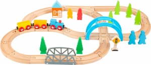 Small Foot speelgoedtrein Big Journey hout junior 40-delig