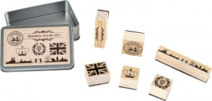 Small Foot Stempel-Set London Hout
