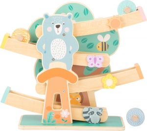 Small Foot wielbaan Marble Run hout junior 35 cm blank/groen