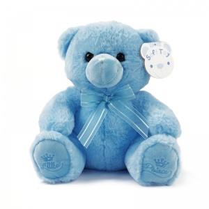 Soft Touch knuffelbeer Little Prince junior 25 cm blauw