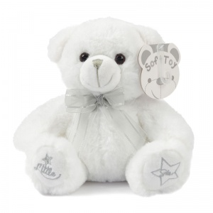 Soft Touch knuffelbeer Little Star 25 cm polyester wit