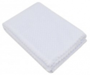 Soft Touch wikkeldeken White Waffle junior100 cm fleece wit