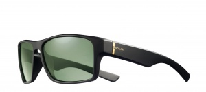 Solar unisex sunglasses cat.3 matt black/green (JSL1629)