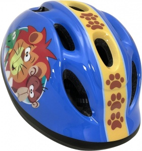 Stamp fietshelm Jungle Animals junior blauw