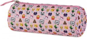 Stationery Team etui Emo Fun roze 23 x 8 x 8 cm