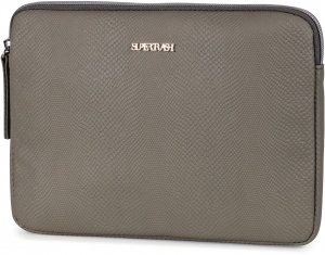 Stationery Team tablet sleeve Supertrash groen 25 cm