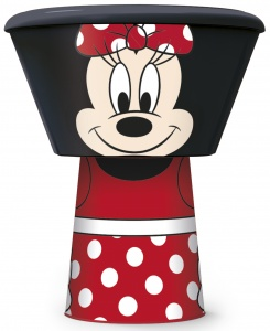Stor eetset Minnie Mouse 3-delig zwart/rood