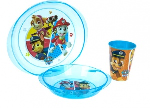 Stor Lunchset Paw Patrol Marshall magnetron blauw 3-delig