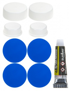 Summit luchtbed repair kit 9-delig