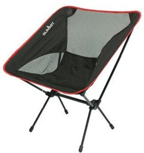 Summit vouwstoel Pack Away Chair zwart/rood