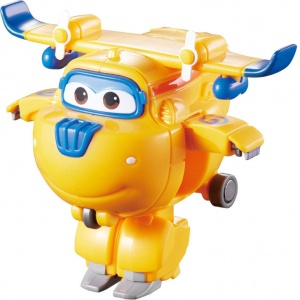 Super Wings speelfiguur Transform-A-Bots! Donnie 6 cm geel