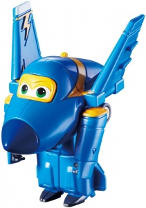 Super Wings speelfiguur Transform-A-Bots! Jerome 6 cm blauw